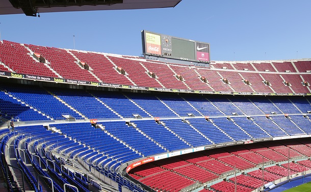 Barcelona, Spain - September 28, 2011: Camp Nou stadium is the highest capacity soccer stadium in Europe. photo taken on September 28, 2011 in Barcelona.